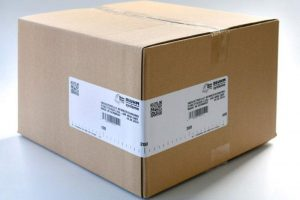 Etiketteren van kartonnen dozen