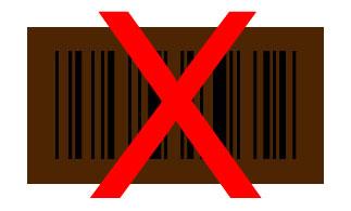 barcode bruin zwart