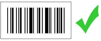 barcode zwart op wit