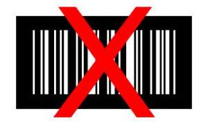 barcode wit op zwart