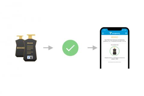 Amazon Transparency product authentification via app
