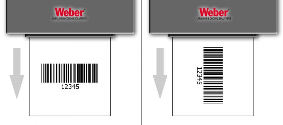 Printing barcode labels fence or ladder