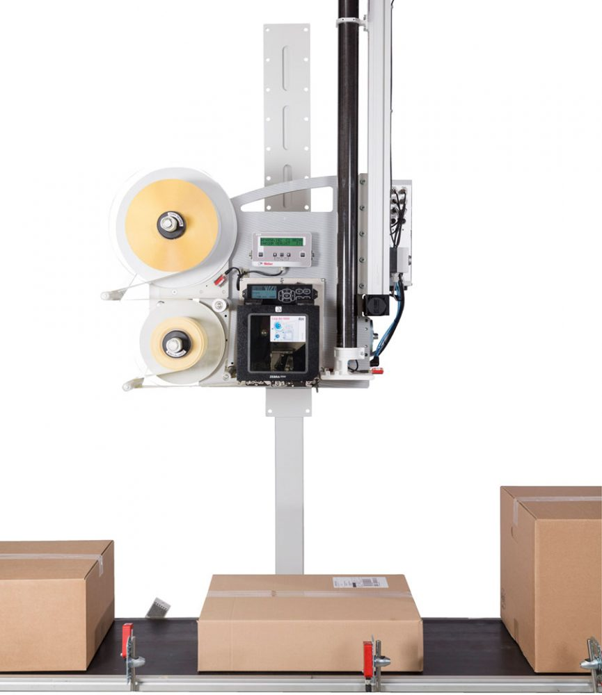 Print-apply etiketteersysteem Legi-Air van Weber Marking Systems