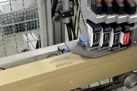 Markoprint inkjet printer coding on carton in production line